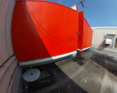 屋上のゴミの様子