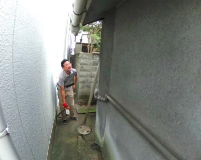 樋工事の様子