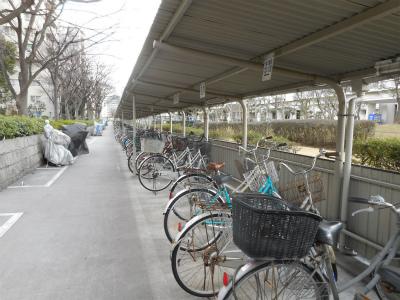 自転車置き場の様子