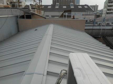 屋根、完成の様子