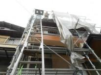 梯子の設置の様子