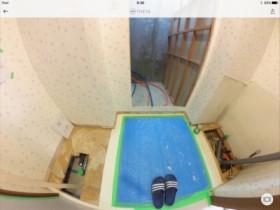 洗面室解体の様子