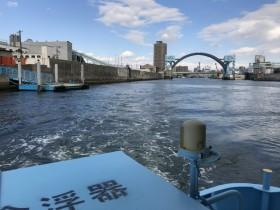 大阪市甚兵衛渡船からの景色