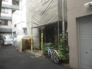 北区で外壁塗装工事が始まりました