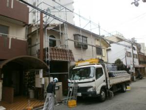 外壁・屋根改良工事が始まりました