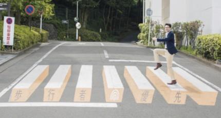 道路標識トリックJA共済より引用