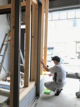 壁枠作業20200911マサキ工務店